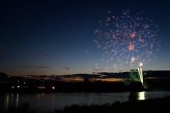 Fireworks (kat-taka) Tags: river fireworks blue landscape sunset magic festival