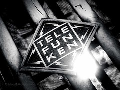 TELE-FUNKEN (blende9komma6) Tags: telefunken hannover linden bw sw sun sonne madeingermany tv elektronik oldschool germanengineering canon ixus