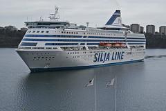 A scandinavian ferry comes into Stockholm harbour (Sweden) (Manfred_H.) Tags: vehicles fahrzeuge ships schiffe fähren ferries balticsea ostsee stockholm sweden