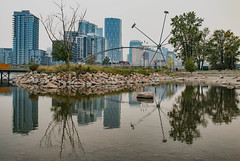 Smoke in the city (hey ~ it's me lea) Tags: calgary reflections