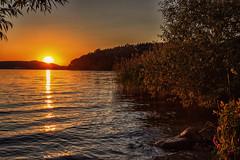 By the Lake (anderswetterstam) Tags: color evening lake landscape light nature reflection seasons shadows water summer summertime sunlight sunshine sunset sundown