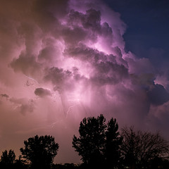 passing storm (johngpt) Tags: lightning newmexico clouds storm places fujifilmx100f
