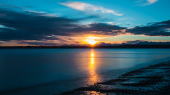 Sunset at Discovery Park (ValeTer_) Tags: reflection horizon sky sunset afterglow sea calm water sunrise atmosphere nikon d7500 discovery park seattle usa wa puget sound landscape nature discoverypark pugetsound