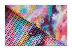 Street Art (PeteZab) Tags: street art abstract shutter diagonal texture colour lines pattern beeston notts nottingham peterzabulis psychedelic
