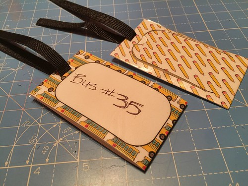 finished backpack tags