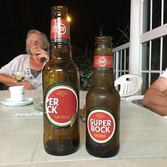 Cherchez l'erreur! (hans pohl) Tags: portugal meco sesimbra moments bouteilles bottles publicités advertising signs