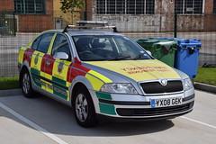 Humberside - YX08GEK - Brough - CoRo (matthewleggott) Tags: humberside fire rescue service engine appliance brough yx08gek car skoda octavia efr emergency responder coro co yas yorkshire ambulance first
