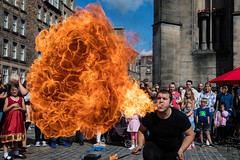 Edinburgh Festival Fringe 2018-83 (Philip Gillespie) Tags: edinburgh scotland festival fringe summer gardens sky sun clouds colours green yellow blue white black red purple orange pink water canon 5dsr photography color urban 2018 bright colourful wet outdoor outside people men women man woman kids children boys girls families crowds street performances acts comedians hoola hoop juggling fire flames eyes feet hands heads faces hair city centre royal mile castle tron joy pleasure happy happiness magic bubbles bursting magicians cabaret costumes makeup hats