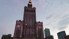 Palace of Culture and Science,  Warsaw, Poland (spipra) Tags: warsaw warszawa poland building landmark timelapse video architecture dusk