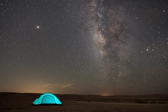 Only me, Mars and the infinite of space (www.guygevaart.com) Tags: travel trekking trail light landscape longexposure milkyway stars galaxy desert nature night