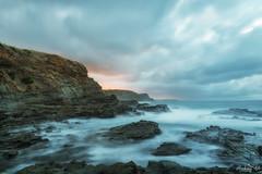 Still got the blues for you  DSC_5223-Edit (BlueberryAsh) Tags: april2018 phillipisland beach panhandlerocks borebeach seascape ocean blues cloudsstormssunsetssunrises clouds sunrise nikond750 nikon24120 longexposure leefilter filter rocks cliffs coast coastline australia