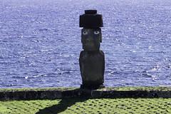 Ahu Ko Te Riku Tahai Moai near Hanga Roa Easter Island Chile (Barbara Brundage) Tags: ahu ko te riku tahai moai near hanga roa easter island chile