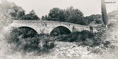 Iviron (kzappaster) Tags: bridge stonebridge pancake panorama samsung samsungnx100 samsungnx nx100 nx bw fauxvintage 16mm 16mmf24 ifn mirrorless compactsystemcamera athos makedonia greece