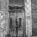 Nicely Weathered Doors (B&W conversion)