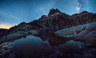 Moonlit Milky Way at Triple Peak, Vancouver Island
