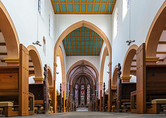 St-Suitbertus-Kaiserswerth (ulrichcziollek) Tags: nordrheinwestfalen düsseldorf kirche kirchenschiff stsuitbertus gotik romanik