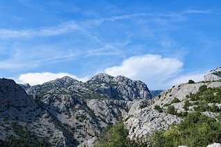 High vantage point view of Paklenica National Park, Croatia.