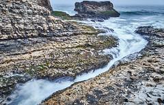 Davenport Gap (ecysun) Tags: davenportgap beach seashore greysky rocks waves tide ocean