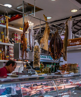 Dry & Cured Fish Counter (Mercado Central - Valencia) (Panasonic  LX100 Lumix Compact) (1 of 1)