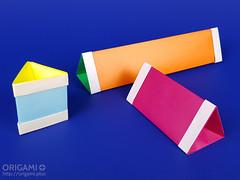 Origami Triangular Prism Box (origami.plus) Tags: origami box triangular prism paper
