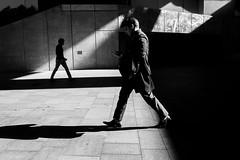 Sydney Winter (zonefocusnet) Tags: streetphotography steps walking men blackandwhite shad shadows mirror