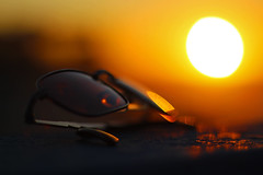 Time to Go Home (Project134) Tags: sunset beach summer sunglasses bokeh