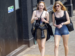 DSC_4110a Shoreditch London Great Eastern Street Ladies Denim Blue Jean Shorts (photographer695) Tags: shoreditch london great eastern street ladies denim blue jean shorts