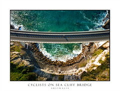 Looking down on Sea Cliff Bridge (sugarbellaleah) Tags: bridge seacliffbridge architecture structure engineering road curve water ocean sea waves rocks cliffs nature landscape aerial view scenic travel bike bicycle transport exercise fitness beautiful sunlight morning boulders concrete ride riding magnificent visual experience coast coastal clifton newsouthwales australia au