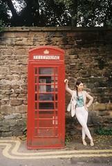Classic Phone Box (I_Waste_Film) Tags: olympus xa xa2 35mm film point shoot compact camera nottingham uk phone box