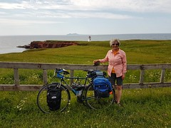 Day 4 - Rest stop near the Cap Alright Lighthouse on Havre aux Maisons island (Bobcatnorth) Tags: lesilesdelamadeleine magdalenislands quebec canada summer 2018 cycling velo bicycle bicycling cycletouring bicycletouring touring tourdevelo gulfofstlawrence