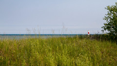 Grass Beacon Lake (Lester Public Library) Tags: lakemichigan water sand grass lake tworiverswisconsin tworivers wisconsin beach beaches greatlakes lesterpubliclibrarytworiverswisconsin readdiscoverconnectenrich sky