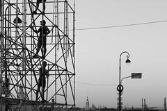 Two and a half -  Два с половиной (Valery Parshin) Tags: russia saintpetersburg canoneos70d mczenitarc1250s evening blackandwhite monochrome stpetersburg