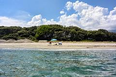 Camp-de-Base (RS...) Tags: corse plage mer beach sea parasol nikon1 aw1