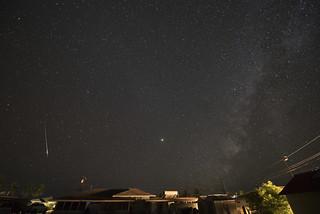 Perseid Meteor, Mars, and the Milky Way DSC_8278