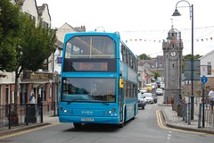 Modern day Anglesey. (Renown) Tags: bus doubledecker daf db250 eastlancs myllennium lowlander arriva anglesey llangefni y702xjf wales welshbuses northwales