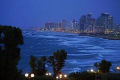 Tel Aviv coastline from Jaffa at the blue hour, Israel (Andrey Sulitskiy) Tags: israel telaviv jaffa