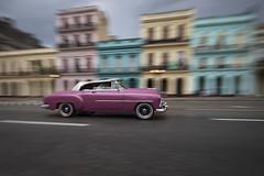 Classic car in Paseo de Marti in La Habana, Cuba (Tim van Woensel) Tags: classic car paseo de marti cuba street color panning la habana old havana cuban vieja unesco world heritage site latin america caribbean el capitolio slow shutterspeed