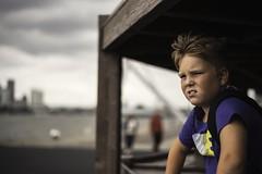 lmpressed by Rotterdam Harbour (Dannis van der Heiden) Tags: portrait boy amazed looking sky rotterdam harbour nikond750 d750 closeup netherlands persona son dreaming thoughts impressed 50mm nikkor50mmf18g