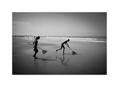 a day out (Joel Leclercq) Tags: blankenberge mer sea seashore flanders belgium coast blackandwhite ricohgr2 contrast belgiancoast noiretblanc belgique côtebelge holliday summer north northsea