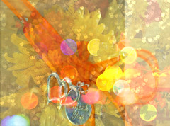 The Promise (soniaadammurray - On & Off) Tags: digitalphotography manipulated experimental collage abstract promise bokeh bokehwednesdays yellow love romance artchallenge