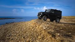 Land Rover Defender - Isole Egadi - Italy (I. Bellomo) Tags: land rover defender favignana egadi island islands marettimo trapani 4x4 sea fuoristrada offroad black landscape fujifilm nikon canon ngc