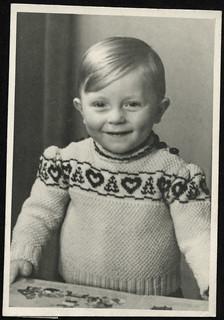 Archiv P599 Jungenporträt für Patentante (postwar), Greiz, 1946