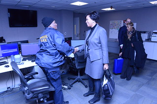 MMB being taken on a tour of the  HSEMA