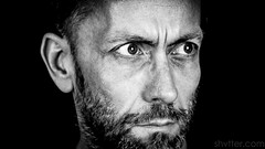 Self (#Weybridge Photographer) Tags: adobe lightroom canon eos dslr slr 5d mk ii mkii monochrome low key black background portrait close up man male beard self selfie