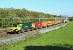 70014, Slindon, 14 May 2018 (Mr Joseph Bloggs) Tags: slindon southampton garston freightliner freight cargo intermodal norton bridge 70 70014 014 ge general electric railway railroad bahn