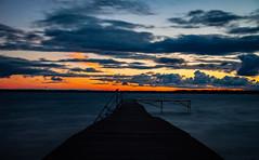 Burning horizon (Explored 2018-08-14) (christianviktorsson) Tags: horizon sunset canon 50d 18135mm ekängen ekangen clouds bridge le