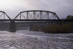 Minolta X-700 - bridge img807 (T. Brian Hager) Tags: minoltax700 minolta x700 film analog bridges railroadbridges railroad norfolksouthern delawareriver lehighriver 35mm fujicolorsuperiaxtra400 epsonv600 epson eastonpa water clouds