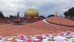 decorations_263 (Manohar_Auroville) Tags: auroville sri aurobindo gathering amphitheatre matrimandir bonfire dawnfire birthday manohar luigi fedele