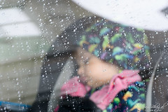 Safe from the Rain (PB1_1349) (Param-Roving-Photog) Tags: baby daughter love carseat babyseat raindrops window glass depthoffield perspective cozy safe cold rainy car mountains holiday familytravel