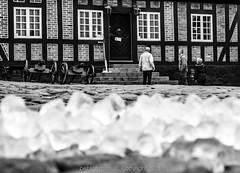 Old Town Hall on ice (peterhansen16) Tags: nikond7100 blackandwhitephoto denmark ebeltoft townhall